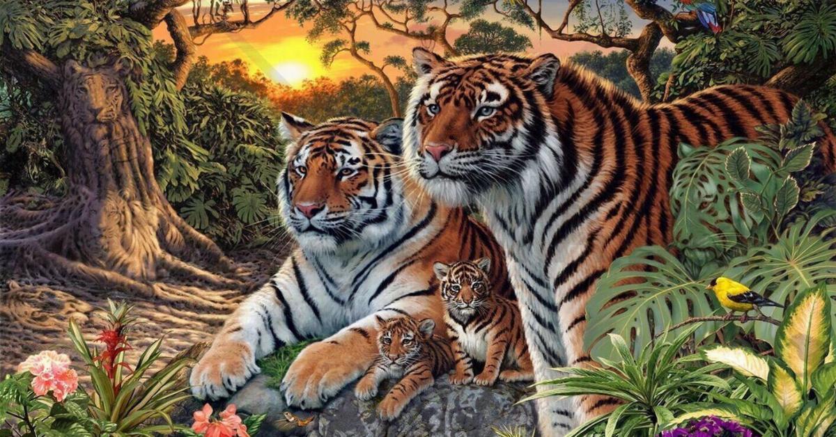 Ile tygrysów widzisz na tym obrazku? Ta tajemnica zaskakuje każdego, kto próbuje to odgadnąć