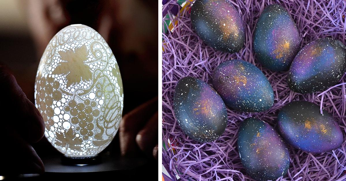 20 kreatywnych pomysłów na dekorację wielkanocnych jaj! #9 to genialny pomysł!