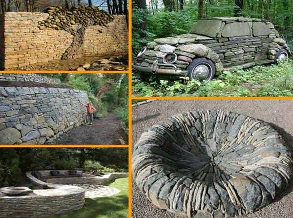25 genialnych pomysłów na dekoracje ogrodowe przy użyciu zwykłych kamieni