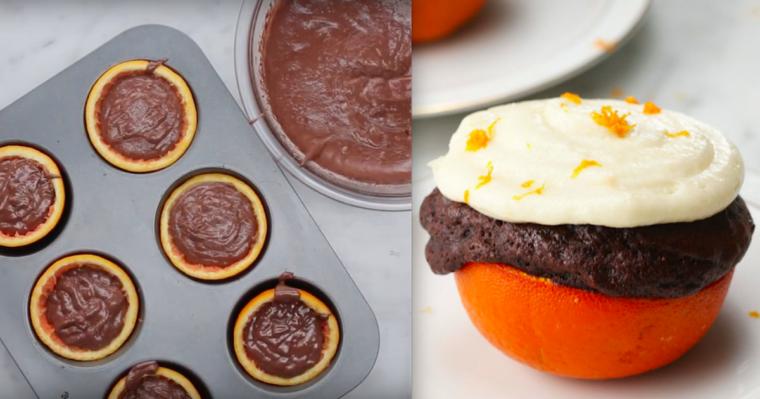 Wspaniałe babeczki czekoladowe, która sprawią, że zmienisz swój sposób spojrzenia na pomarańcze.