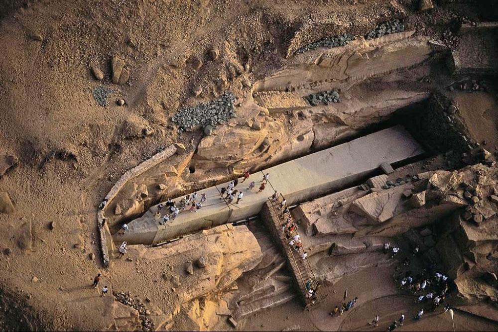 Niedokończony Obelisk w Egipcie