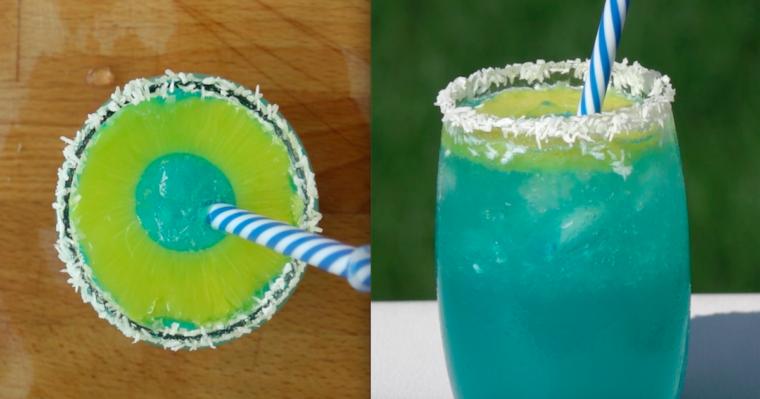 Pyszny drink o wyjątkowym smaku i kolorze. Wygląda zjawiskowo!