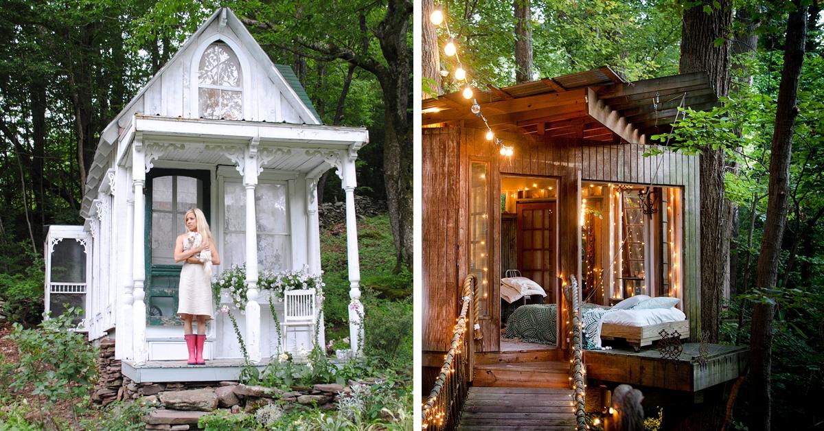 Kto powiedział, że tylko mężczyźni mogą mieć swoje kryjówki? Zobaczcie inspirujące zdjęcia domków!