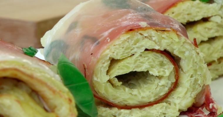 Przepyszne roladki ziemniaczane z cebulką i szynką szwarcwaldzką