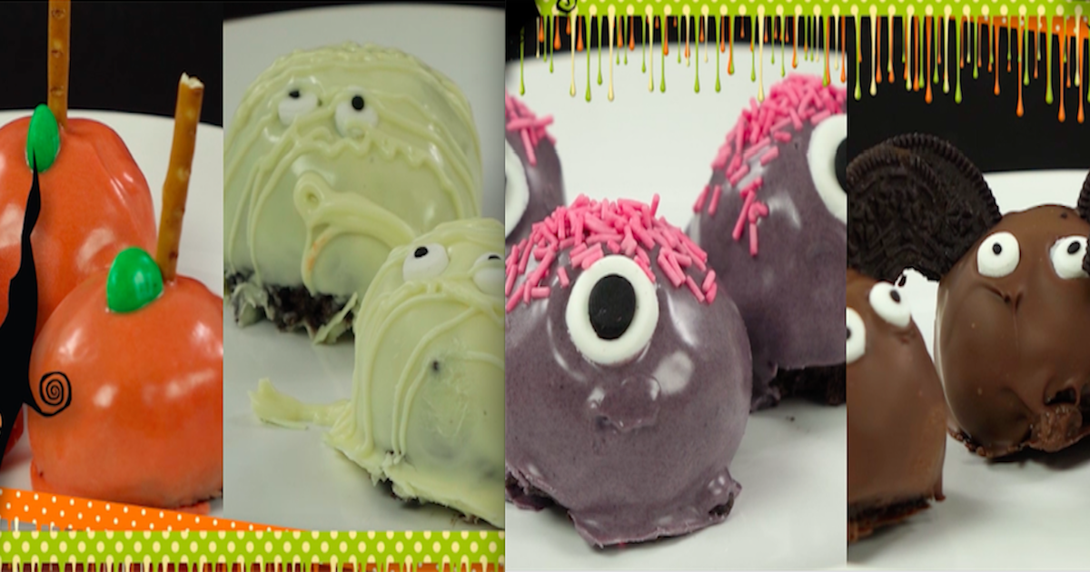 Pyszne Halloweenowe trufle Oreo na 4 różne sposoby