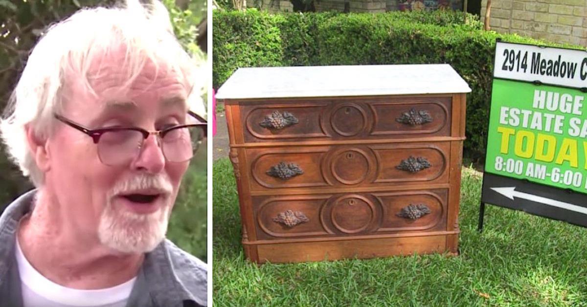 Mężczyzna kupił 125-letnią komodę za 400 zł. Na dnie ostatniej szuflady przypadkowo odkrywa skrytkę