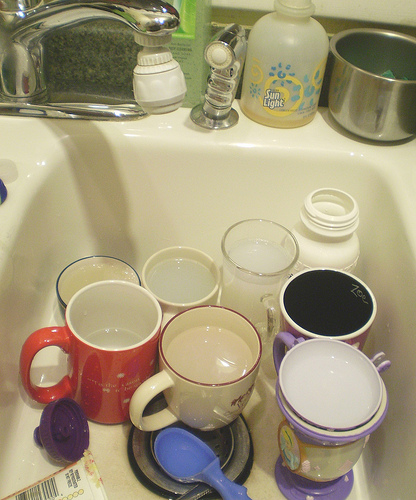 dirty dishes photo