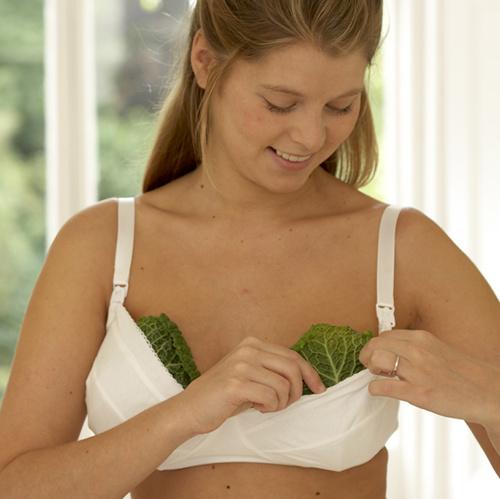 Jeżeli karmisz piersią, koniecznie połóż na biuście liście kapusty. Poczujesz ulgę