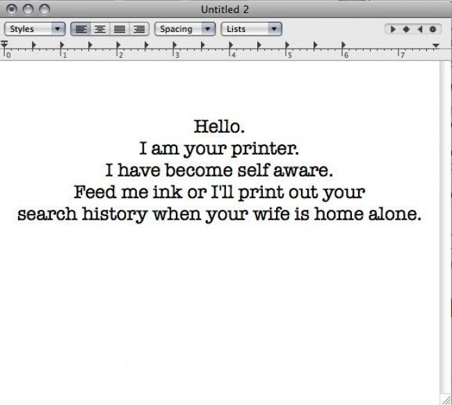 Żywa drukarka