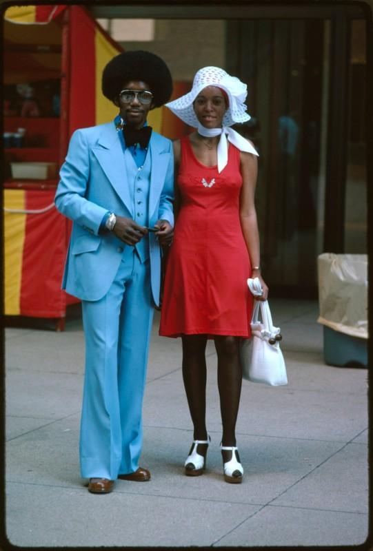 Para na Michigan Avenue w Chicago w latach 60-tych.