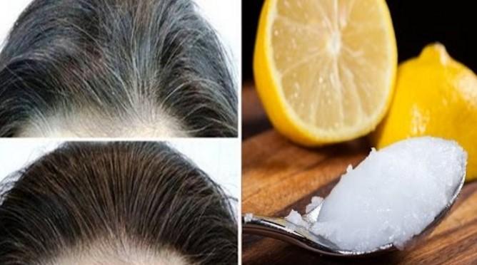 Wymieszała cytrynę z olejem kokosowym i nałożyła na włosy. To naturalna metoda na siwiznę!