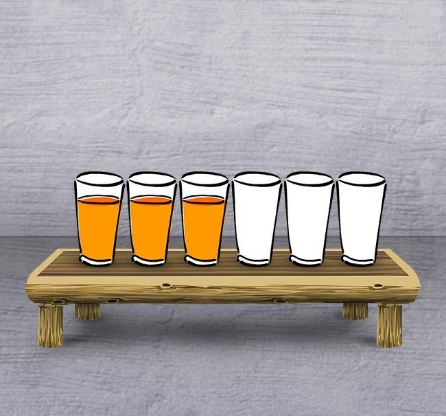 Masz tylko 1 ruch, aby sprawić, że w co drugim kuflu będzie piwo. Jak to zrobić?