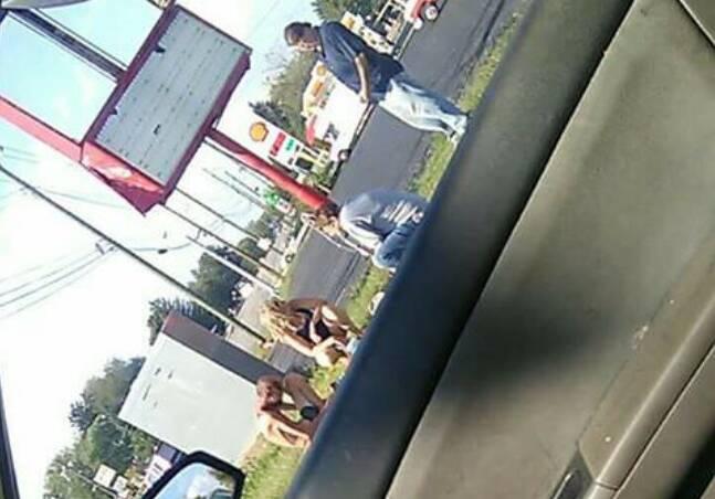 Mały niedźwiadek nie nadążał za mamą i rodzeństwem. Usiadł na drodze i patrzył jak odchodzą