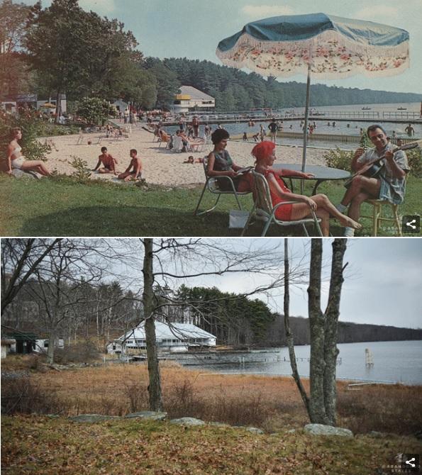 Fotograf odnajdywał miejsca z pocztówek, by uwiecznić jak zmieniły się na przestrzeni 50 lat