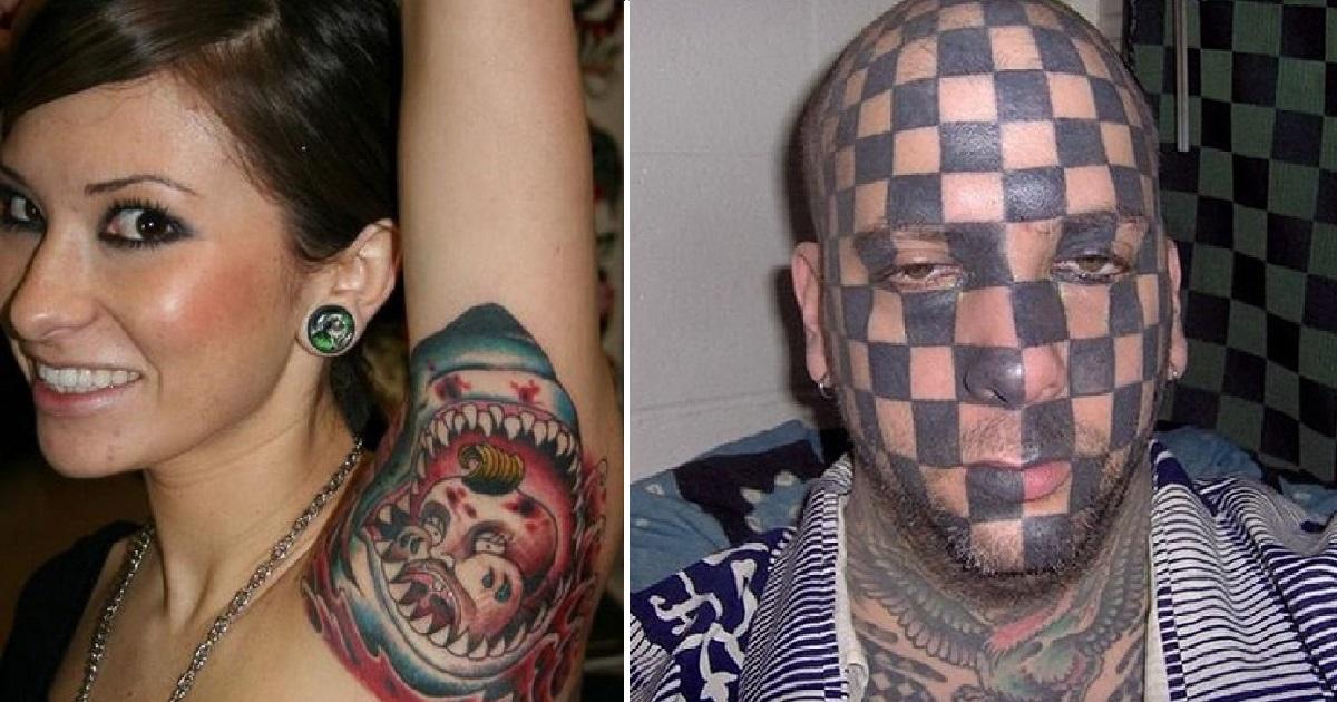 nietrafione tatuaże