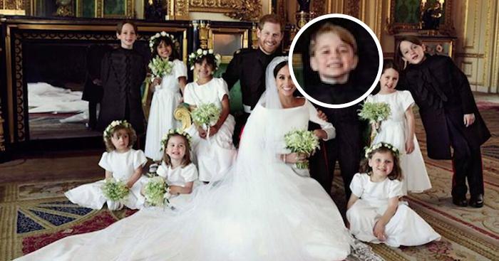 To zdjęcie ślubne zwróciło uwagę mediów. Jedno z dzieci szczególnie się wyróżnia