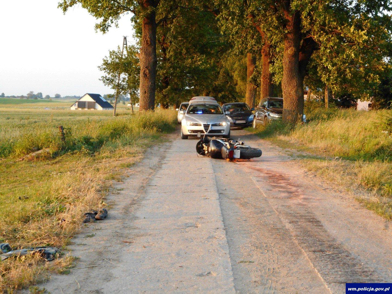65-letni rolnik umieścił na polu żyłkę, w którą wjechał motocyklista. 27-latek trafił do szpitala
