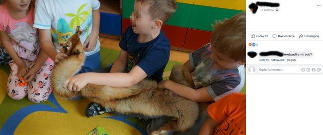 Przedszkolanki kazały głaskać dzieciom martwe zwierzęta i pozować z nimi do zdjęć