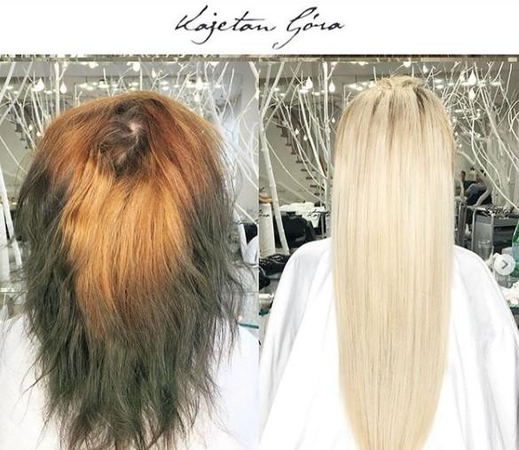 Przyszła do fryzjera ze zniszczonymi włosami. Z salonu wyszła całkowicie odmieniona