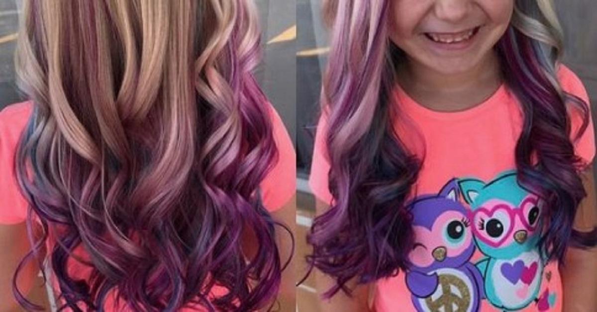 Obok niej u fryzjera usiadła 7-latka, którą czekało farbowanie. Marzył jej się różowy kolor