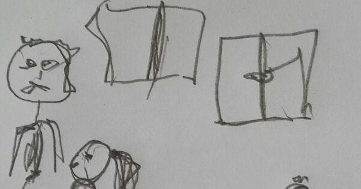 7-letnia córka Justyny narysowała tatę w jednoznacznej sytuacji. Cała prawda wyszła na jaw