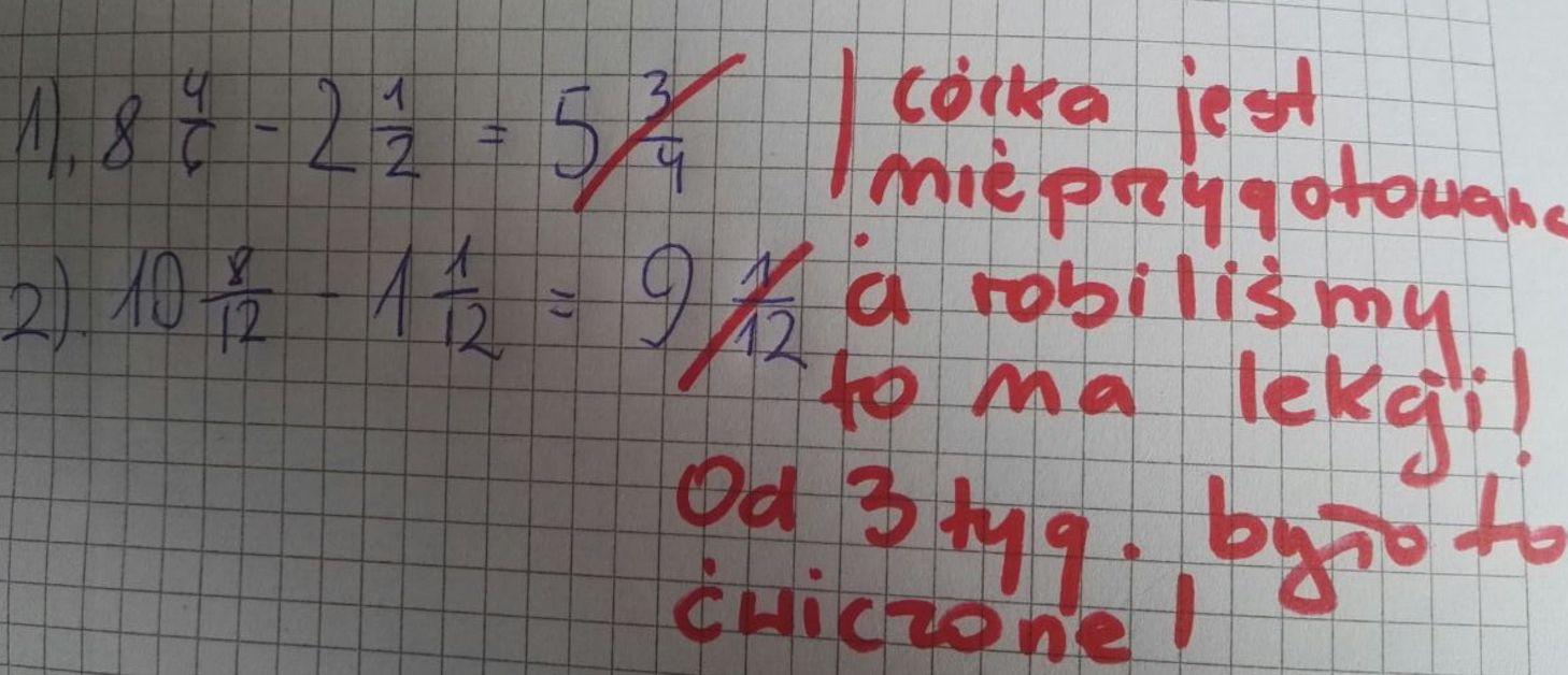 11-letnia Kasia dostała jedynkę z matematyki. Komentarz nauczycielki oburzył jej mamę