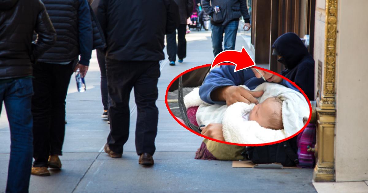 Na ulicy zauważył płaczącą 15-latkę z dzieckiem. Błagała o pomoc, ale ludzie ją ignorowali