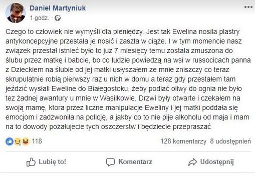 """""""Nie znacie prawdy. Odwalcie się"""". Daniel Martyniuk kolejny raz wypowiada się w sieci"""