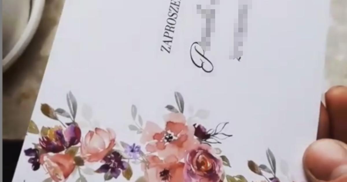 Dostała zaproszenie na ślub kuzyna. Oburzył ją zakaz, który znalazła w środku