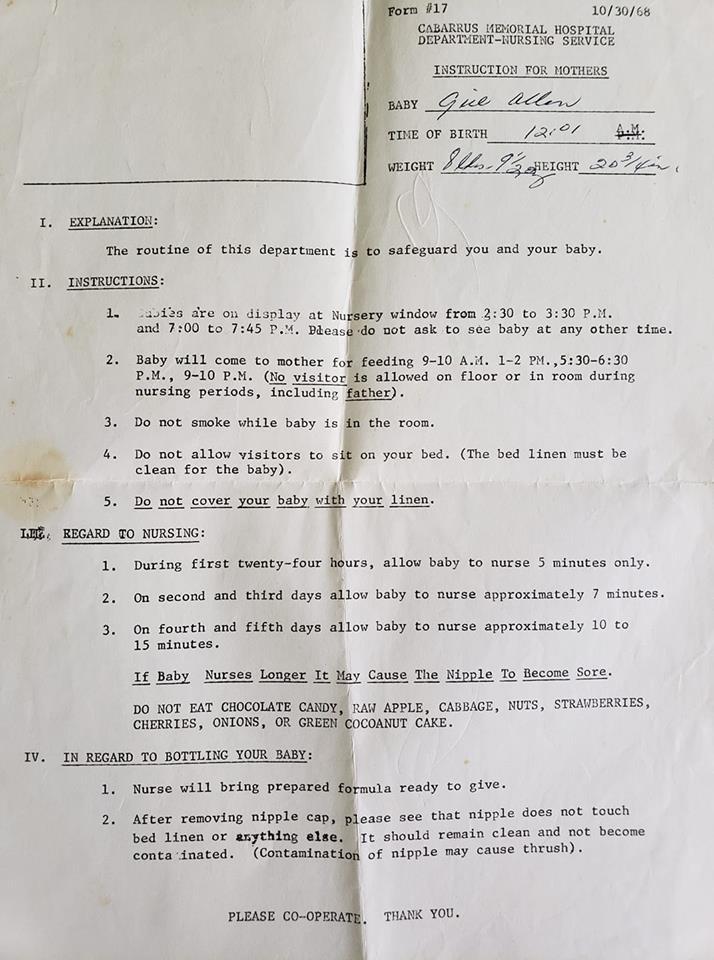 Nietypowe zasady dla świeżo upieczonych mam z lat 60. Dziś niektóre nie mieszczą się w głowie