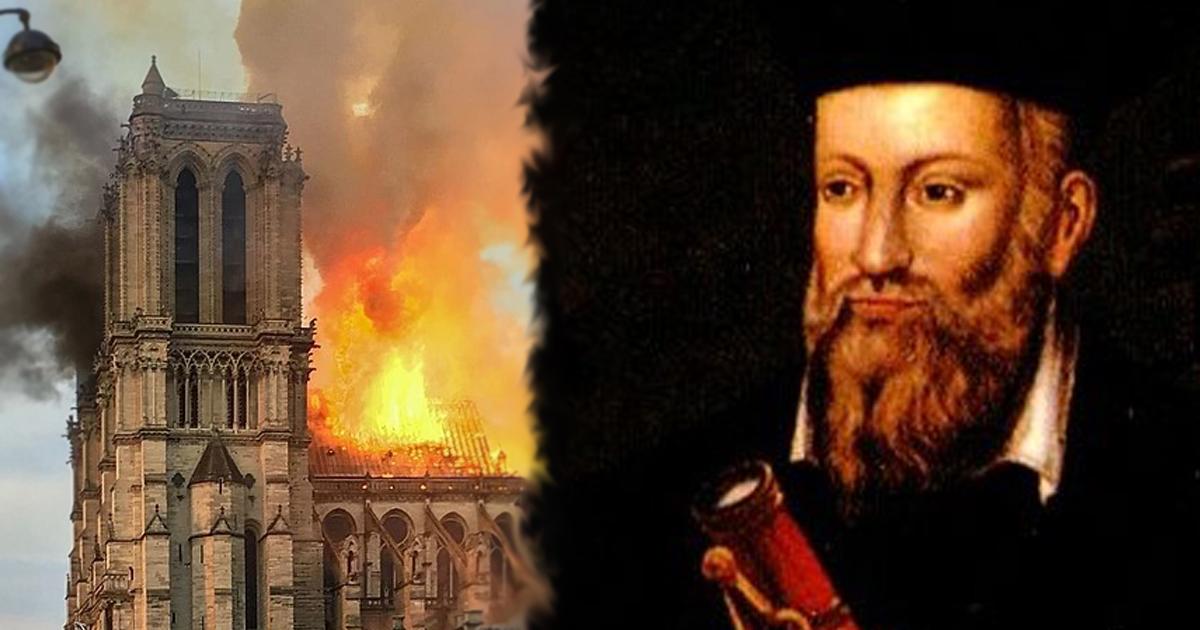 Ogień nad Katedrą Notre Dame i Nostradamus