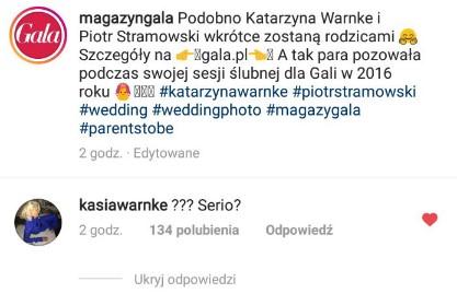 Kasia Warnke w ciąży
