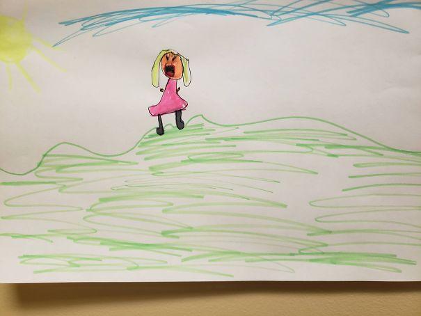 """""""Moja córka nie cierpi słońca. Jej rysunek jest tego najlepszym dowodem"""""""