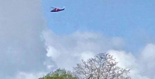 helikopter nad rezydencją meghan markle