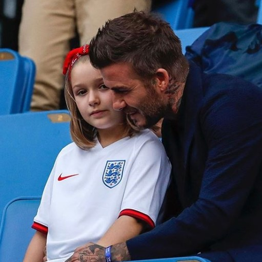David Beckham i córka