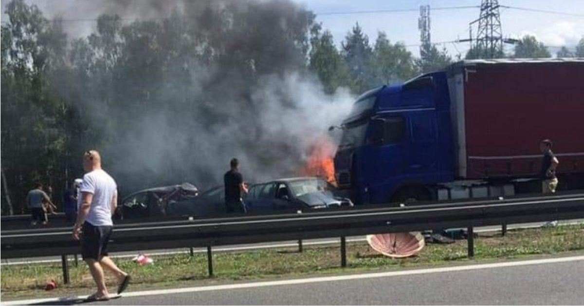 płonące samochody pod szczecinem