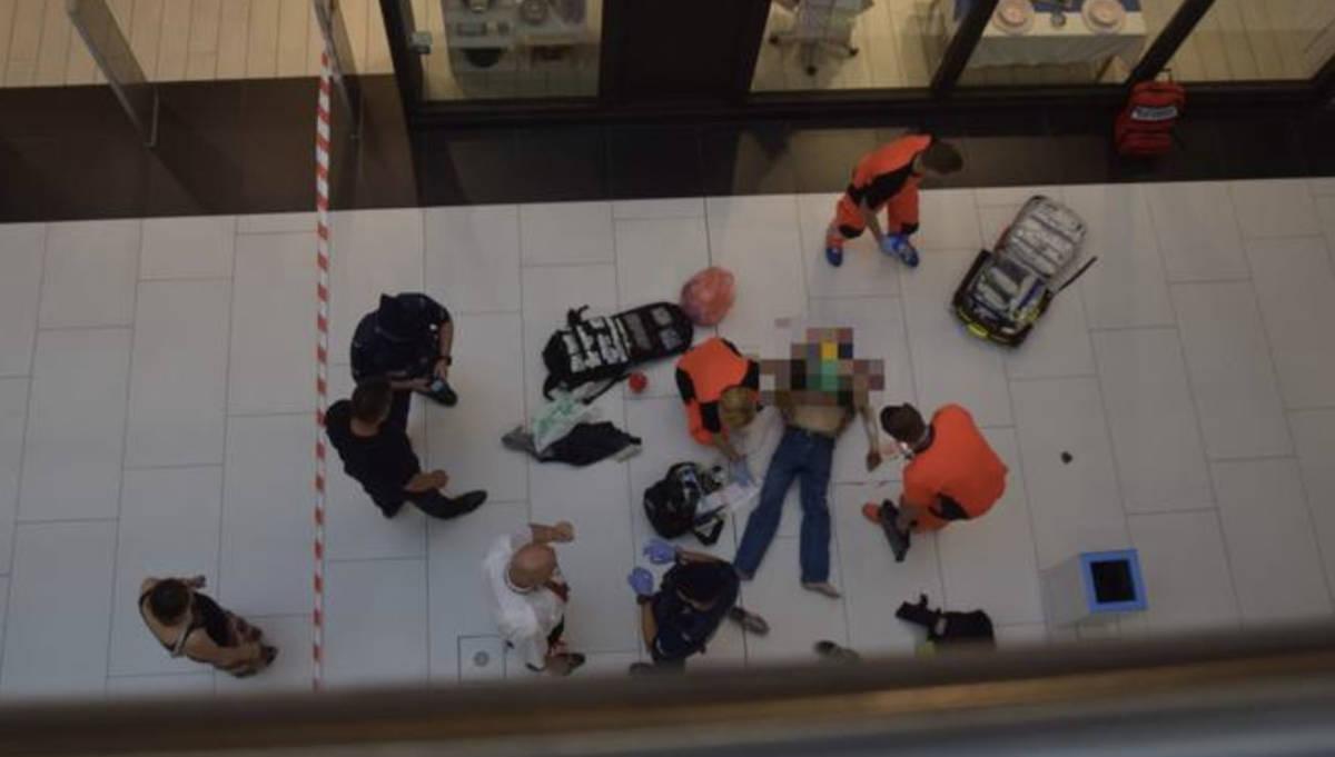 Śmiertelny wypadek w galerii handlowej w Białymstoku. Mężczyzna skoczył z piętra