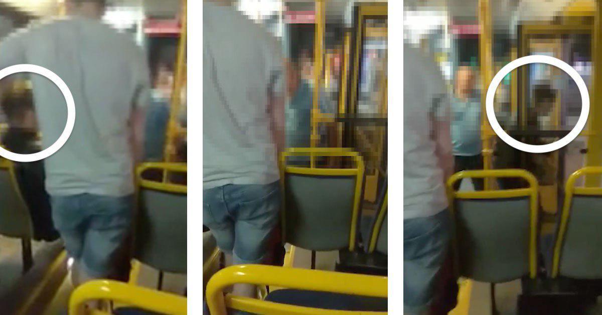 pasażer zwymiotował w autobusie