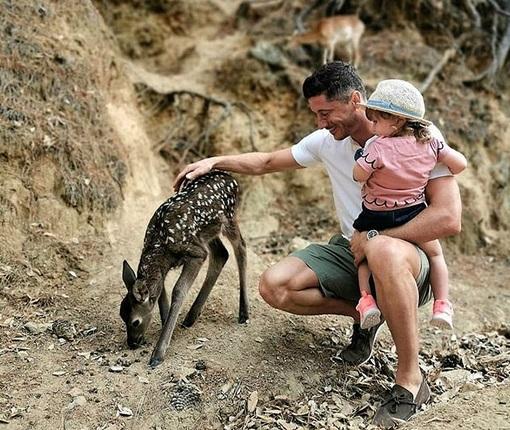 Robert Lewandowski pokazał twarz dziecka