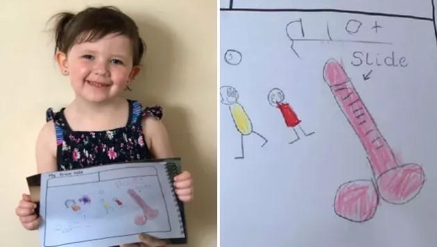 4-letnia Amelia stworzyła rysunek, przez który rodzice zostali wezwani do przedszkola