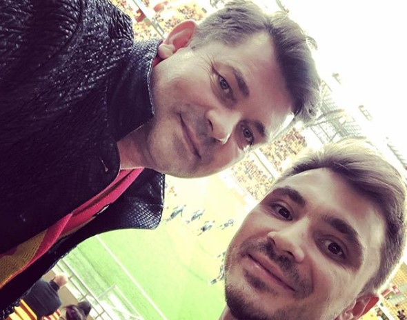 Daniel Martyniuk z ojcem