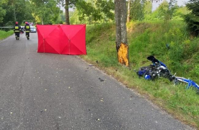 Motocyklista zderzył się z sarną i zginął