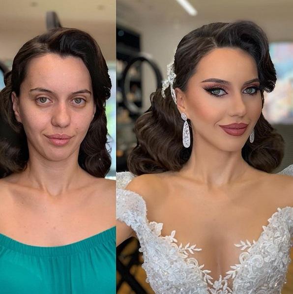 """Panny młode """"przed"""" i """"po"""" ślubnym makijażu. Wglądają jak zupełnie inne kobiety!"""