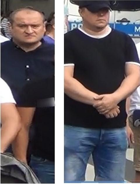 mężczyźni podejrzani o blokowanie marszu równości w białymstoku