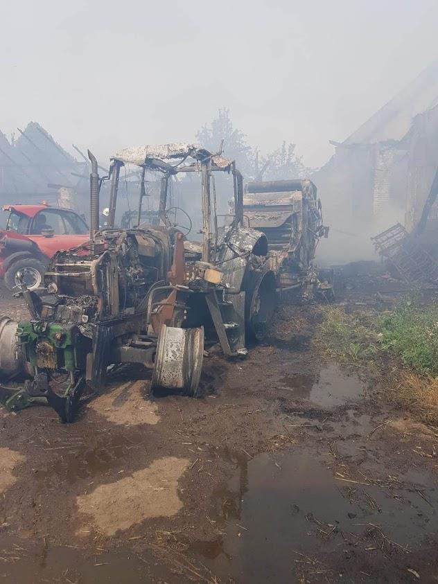 spłonęło gospodarstwo rolnika