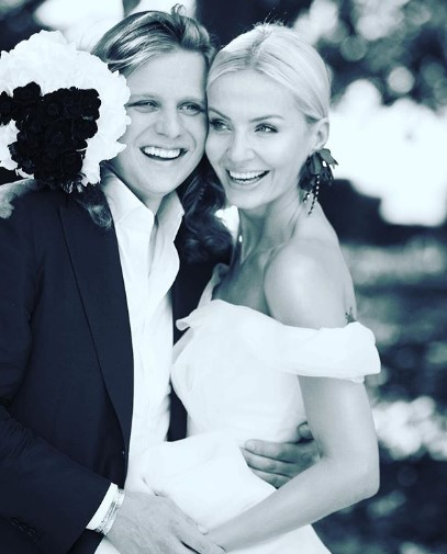 Agnieszka Szulim z mężem