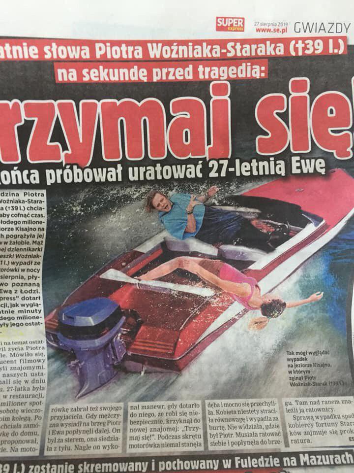 Piotr Wożniak-Starak wypada z łódki