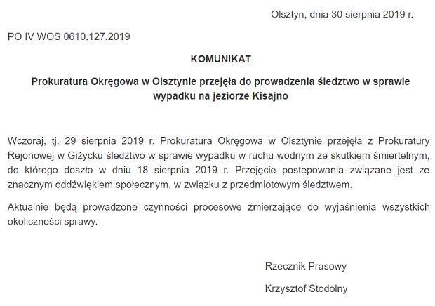 Prokuratura wszczęła śledztwo w sprawie wypadku Piotra Woźniaka-Staraka. Ma ku temu powody