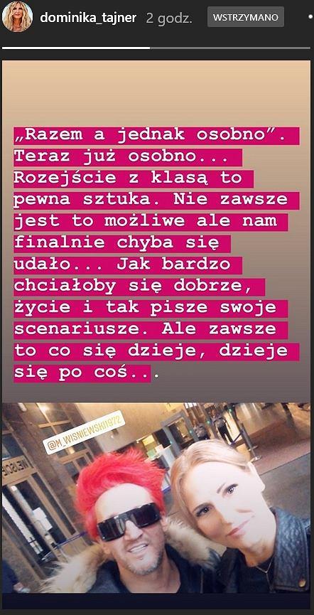 Dominika Tajner i Michał Wiśniewski już po rozwodzie