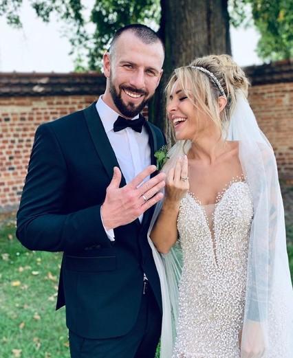 Blanka Lipińska i mąż